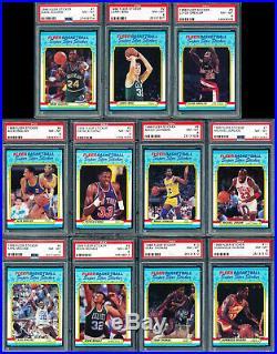 1987 & 1988 Fleer Basketball Sticker Sets All PSA 8 No Qualifiers