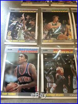 1987-88 Complete Fleer Basketball Set WithALL-STARs 1-11 With2 PSA 8 Jordans NRMT