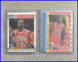 1987-88 Fleer Basketball Set 143 Cards With Sticker Set Michael Jordan All Star