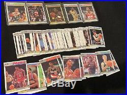 1987-88 Fleer basketball lot of 84/132 cards all different starter set Near Mint