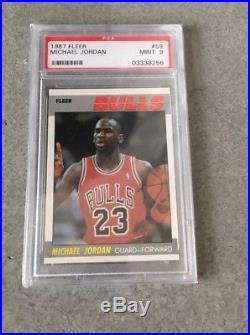 1987 Fleer Basketball Complete Set PSA 9 Michael Jordan 132/132 All Star NQ
