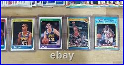 1988-89 FLEER BASKETBALL COMPLETE SET With STICKERS & ALL STARS NR-MINT 1-132