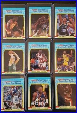 1988 Fleer Basketball Complete Set 1-132 Plus 11 Stickers All In Top Loaders Nm