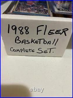 1988 Fleer Basketball Complete Set 132 Cards + Checklist And All 11 Stickers