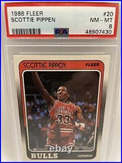 1988 Fleer Complete Set Michael Jordan, Pippen, Grant ALL PSA 8s Rookies Look