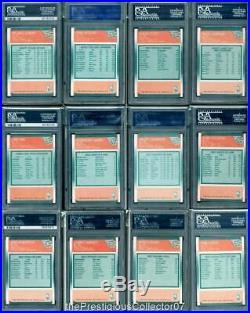 1988 Fleer MICHAEL JORDAN/STOCKTON RC All-Star Set x12 Card Lot PSA 10 Gem Mint
