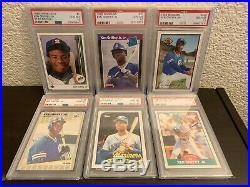 1989 Ken Griffey Jr PSA 10 Rookie Lot Collection Upper Deck All 6 RCs Set