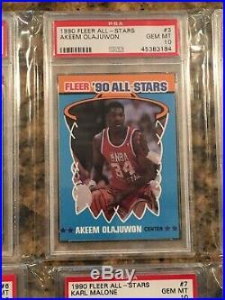 1990 Fleer All-Stars Sticker PSA 10 GEM MINT Complete Set 1-12 Jordan Magic Bird