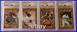 1991 Donruss Elite Series complete set Baseball Cards # 1-8 all PSA graded