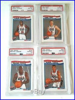 1991 HOOPS ALL PSA 10's 1/1 PRISTINE SET'92 USA OLYMPIC DREAM TEAM 14 CARD SET