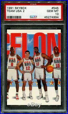 1991 Skybox Dream Team USA # 544 545 546 Michael Jordan ALL PSA 10 Gem Mint SET
