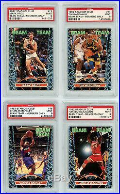 1992-93 Stadium Club Beam Team Members Only Complete Set ALL PSA 9 Jordan Shaq