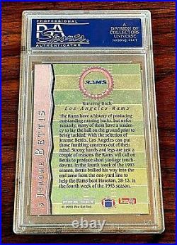 1993 Pro Set All Rookies #3 (GOLD) Jerome Bettis RC PSA 10 Gem Mint