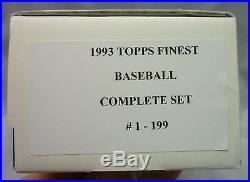 1993 Topps FINEST BASEBALL Set CUSTOM WRAP All in Penny Sleeves 1-199