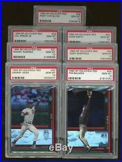 1994 SP Holoview Red Complete Set 38/38 All GRADED PSA 10 with Alex Rodriguez RC