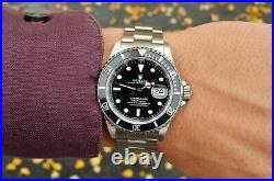 1995 Men's Rolex Submariner All Original Tritium Black Dial Steel 16610 Full Set