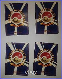 1996 Original Pokemon Base Set COMPLETE ALL 102 Cards Lot Japanese Edition