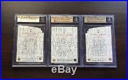 1997-98 Upper Deck UD3 MJ3 Michael Jordan Die Cut Complete Set BGS 9.5 All