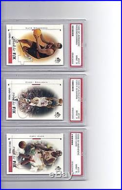 1998-99 SP Authentic Basketball Complete Rookie Set All Graded PSA 9