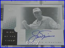 2001 SP Authentic Golf Master Set & All Auto & Swatch Tiger Woods Jack Nicklaus