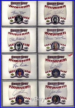 2001 Sweet Spot Grand Master Set All Auto's Jerseys Bats Bases Rc's Inserts +++