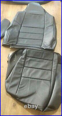 2004-2007 Ford Crew Cab New Nos Black Leather Cover Seat Set F250 F350 F450 Oem