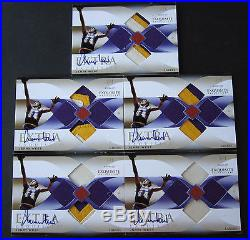 2006-07 Exquisite Extra Jerry West Lakers Auto Patch COMPLETE SET of ALL 5