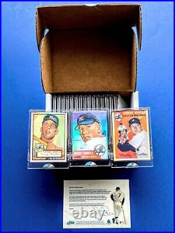 2006 eTopps MICKEY MANTLE COLLECTION SET, 18-CARDS 1952-69 ALL CHROME REFRACTORS