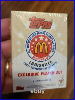 2007 McDonalds All-Amerian Exclusive Player Set with James Harden RC Sealed