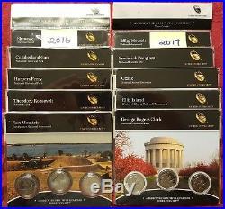 2010-2018 All 132 National Park Quarters P, D, S in US Mint wrap original Sets