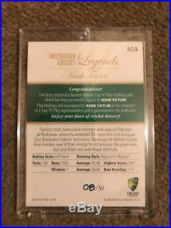 2014 TAP'n' PLAY AUSTRALIAN CRICKET LEGENDS FULL SET OF 7 SIG CARDS ALL #08/50