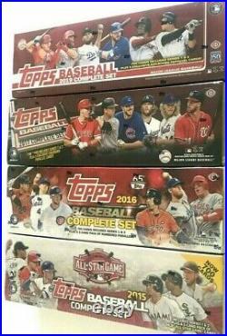 2015 All-star, 2016, 2017 & 2019 Hobby Topps Baseball Factory Set Combo