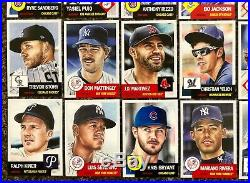 2018/19 Topps Living Set 57 Different Cards Judge Hoskins Jeter Trout All Nice