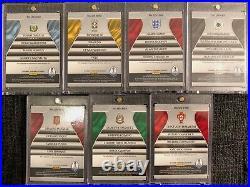 2018 Panini PRIZM World Cup Quad Signatures Full Set of all 7 Autograph Auto