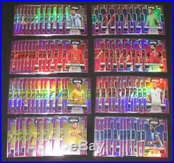 2018 Panini Prizm World Cup PURPLE refractor COMPLETE SET All 300 cards #/99