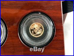 2018 Royal Mint Gold Proof 3 Coin Sovereign Set All Original Boxing And Papers