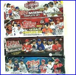 2018 Topps Retail & 2017 & 2016 Hobby & 2015 All Star Baseball Factory Set Combo