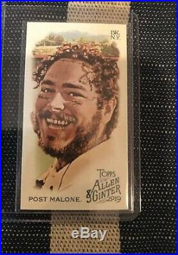 2019 Topps Allen and Ginter Post Malone COMPLETE SET ALL CARDS #