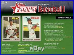 2019 Topps Heritage complete set #1-725 includes all 125 short prints
