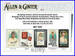 2020 Topps Allen & Ginter (500) Card Master Set Base + SPs + All Insert Sets