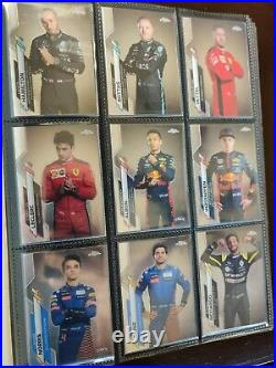 2020 Topps Chrome Formula 1 Complete Set (1-250) Includes all 50 inserts