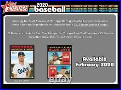 2020 Topps Heritage Baseball (590) Card Master Set All Base + SPs + Inserts