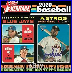 2020 Topps Heritage COMPLETE MASTER SET of 590 Cards! 100 SPs All 5 INSERT SETS