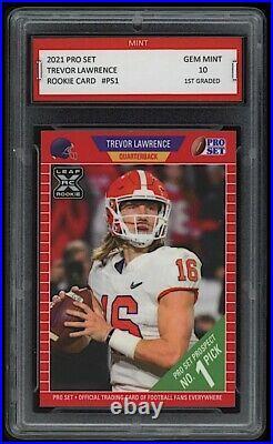 2021/21 Trevor Lawrence Leaf Pro Set Rookie 1st Graded 10 All-American RC Card