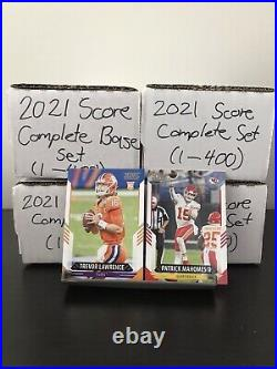 2021 Score Football Complete Base Set (#1-400) All Rookies Included