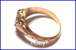 22k victorian diamond ring belcher setting all original old european cut diamond