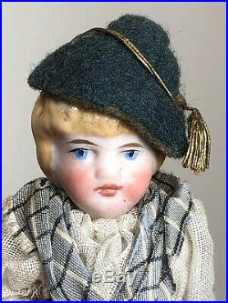 3.5 Antique German All Bisque Jointed Adorable Couple Set Of 2 Dolls DetailedAc