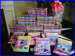 62 COMPLETE SET 1-62 GOOSEBUMPS ALL ORIGINAL SERIES BOOKS! 4 WithCOLLECTIBLES