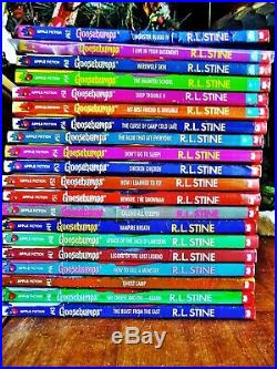 62 Complete Set Goosebumps All Original Series Books! With 12 Collectibles