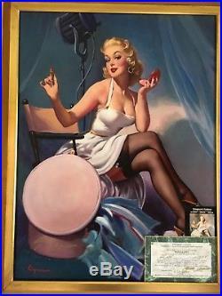 af8c0dd1b3e ALL SET Elvgren Original Painting Model AUTOGRAPH Rare famous PINUP Movie  Actor